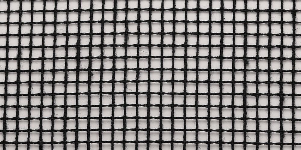 Gitternetz Baumwolle | Schwarz 347